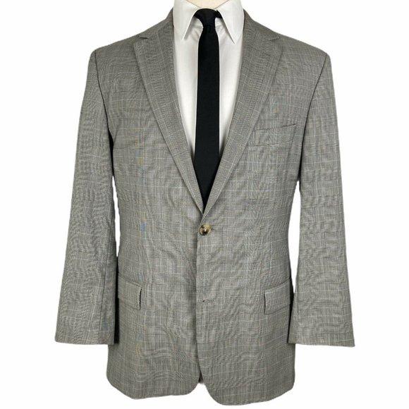 HUGO BOSS Other - Hugo Boss Sport Coat 42L Gray Glen Plaid 2 Btn